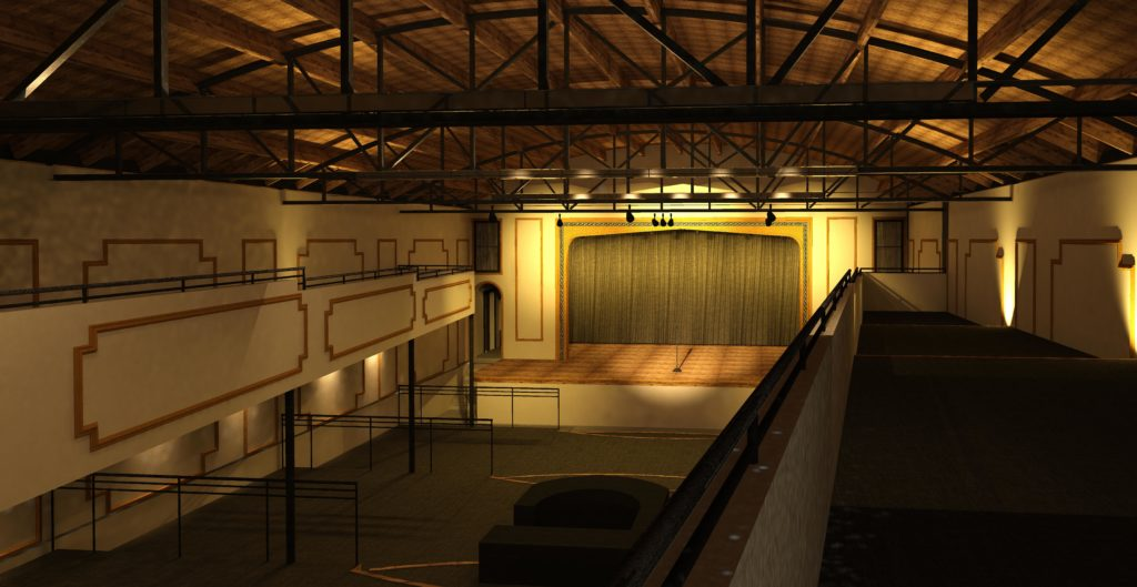 A rendering of the potential remodel of the Yates Theater. (Courtesy of Downtown Property Services)