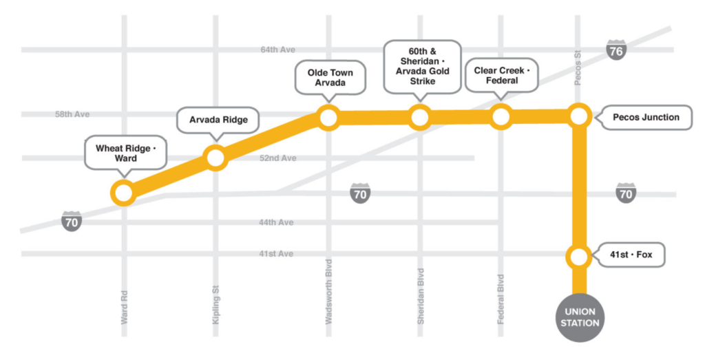 The G Line route. (RTD)