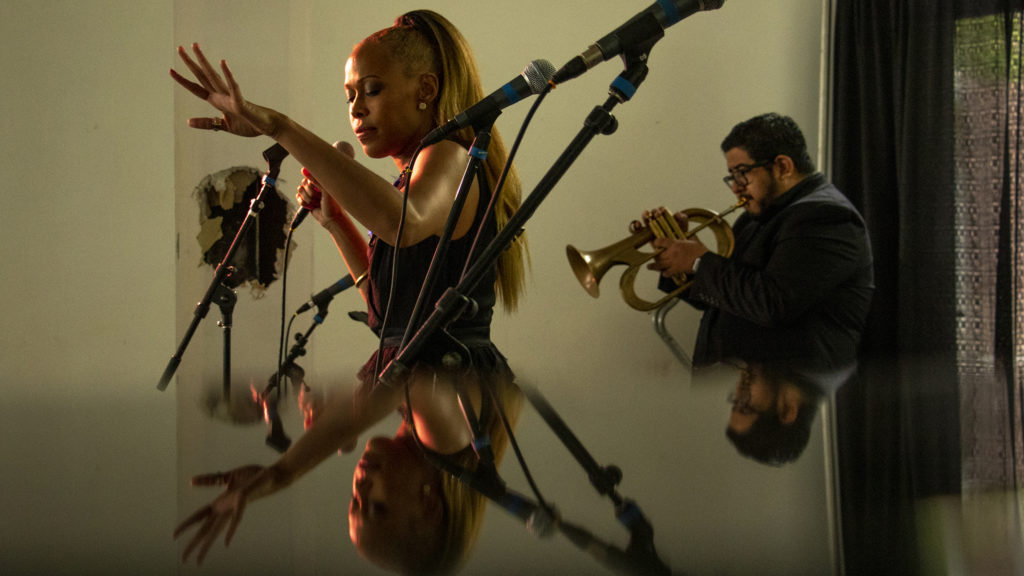 Danette Hollowell and the Old Souls play the Rossonian Hotel during the Five Points Jazz Festival, May 18, 2019. (Kevin J. Beaty/Denverite)