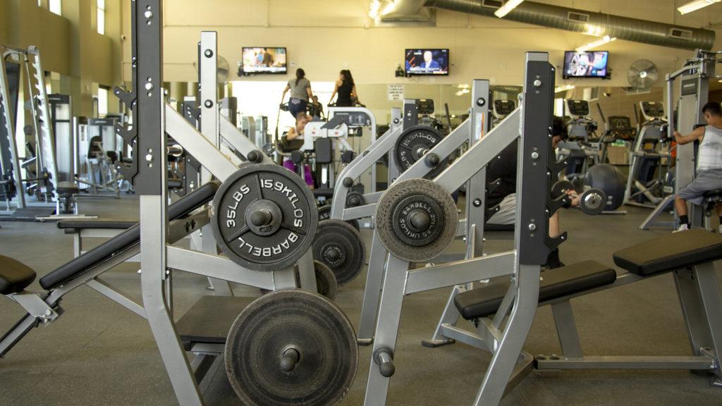 The gym inside the Green Valley Ranch Recreation Center, June 12, 2019. (Kevin J. Beaty/Denverite)