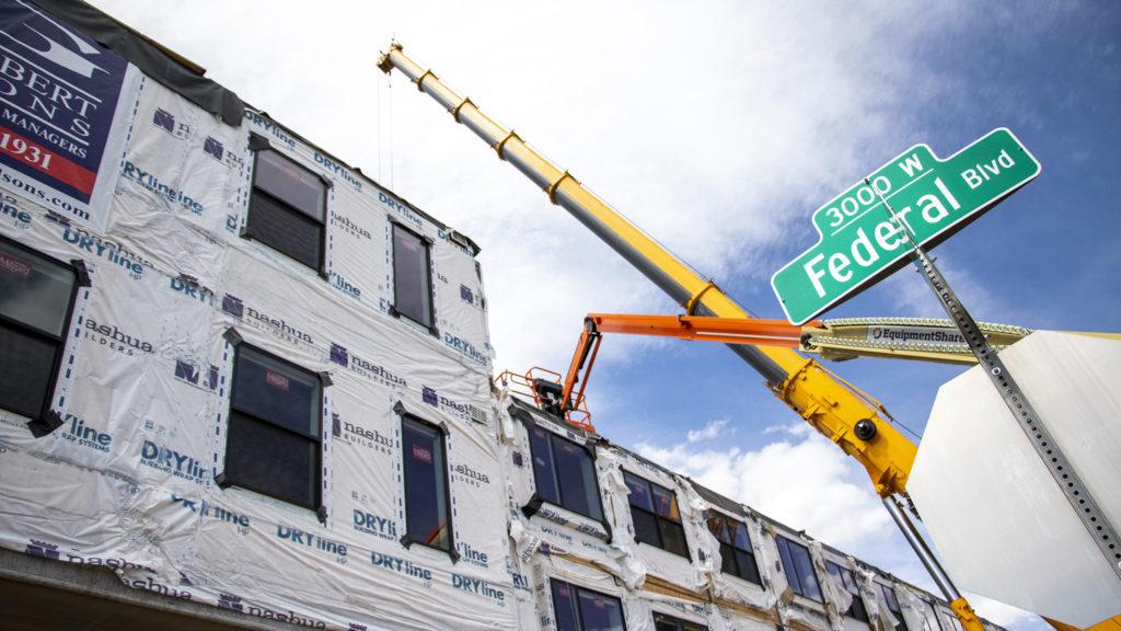 1775 Federal Blvd. under construction, June 25, 2019. (Kevin J. Beaty/Denverite)