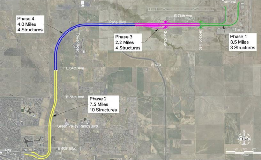 The proposed expansion map. (Denver International Airport)