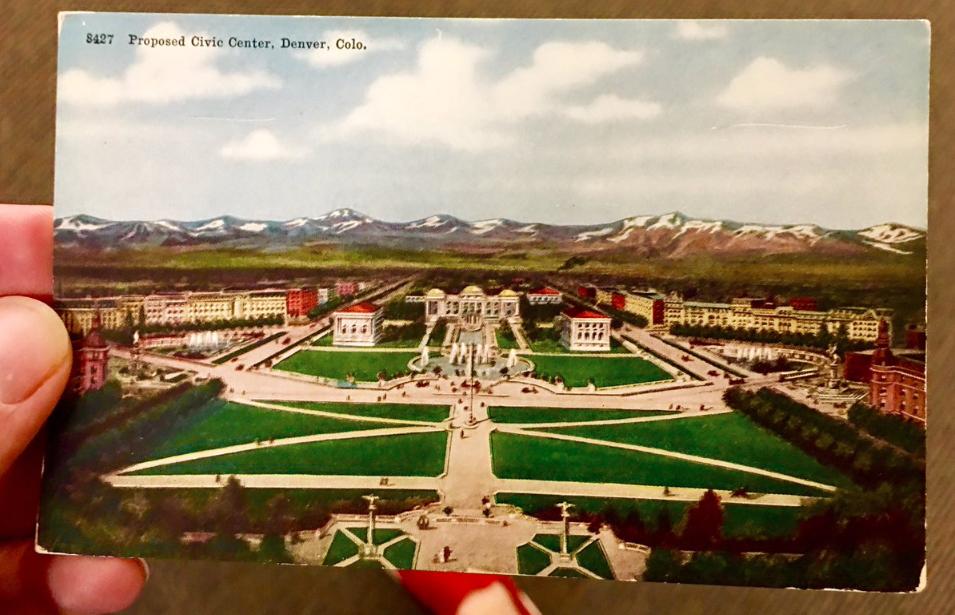 """Proposed Civic Center"" in Denver. (Ryan Warner/CPR)"