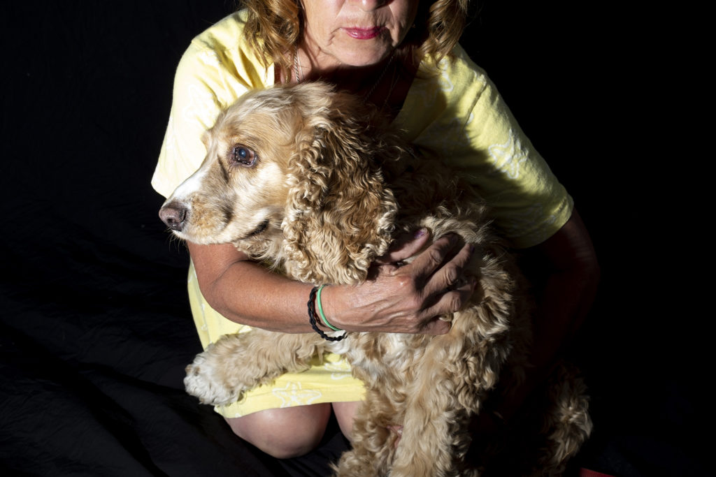 Tazz and her human, Grace Esquibel, pose for a portrait at City Park Jazz, July 14, 2019. (Kevin J. Beaty/Denverite)