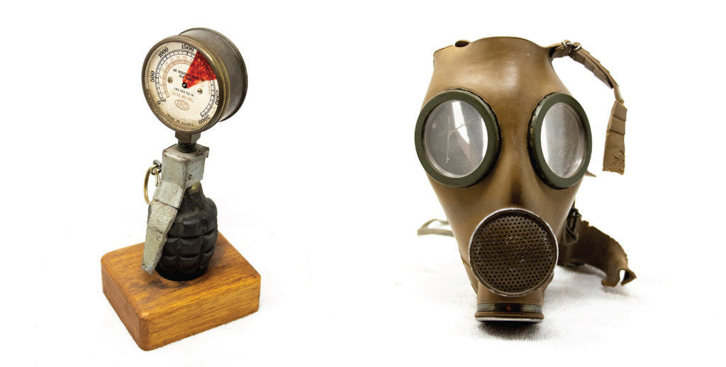 Two items from Gary Johnson's extensive collection of military ephemera. (Kevin J. Beaty/Denverite)