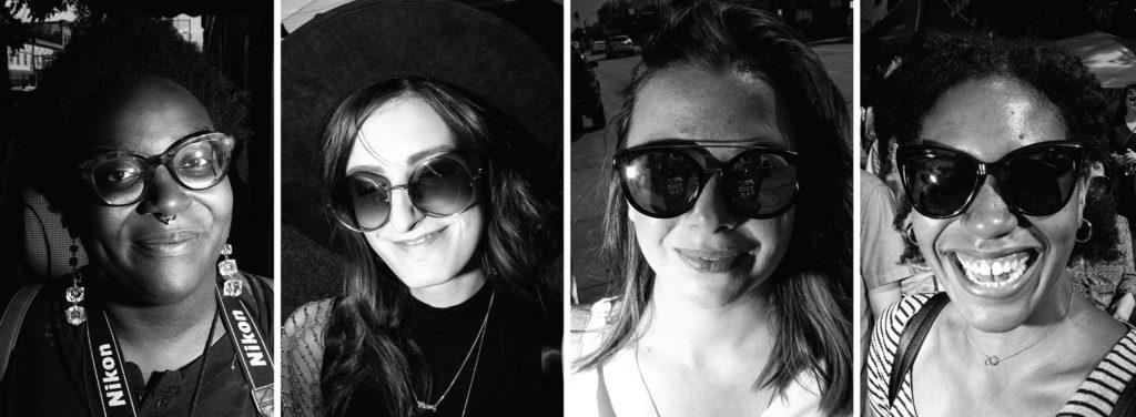 Demetria Harvey, Amy G, KayLee Grant and Ashley Panelli. The Underground Music Showcase, July 28, 2019. (Kevin J. Beaty/Denverite)