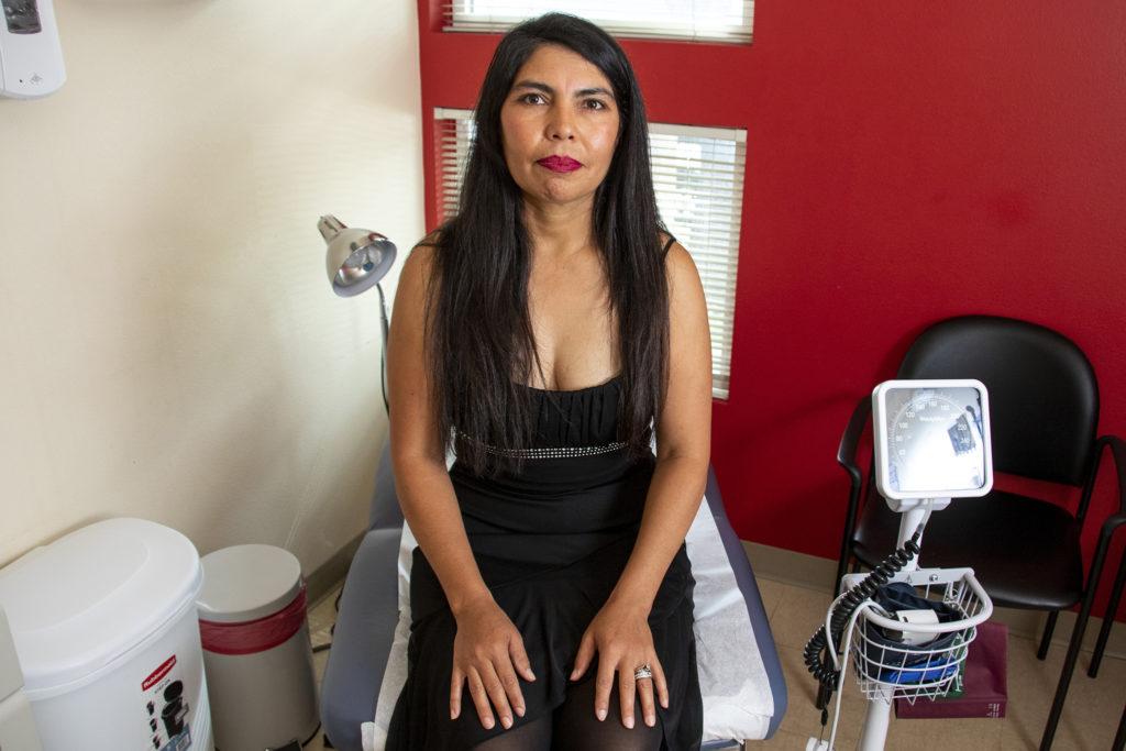Juana Maldonado, a patient at Clinica Tepeyac, poses for a portrait, July 30, 2019. (Kevin J. Beaty/Denverite)