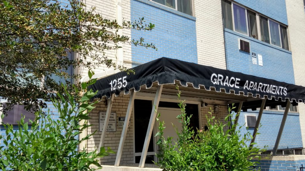 Mercy Housing's Grace Apartments in East Colfax on July 18, 2019. (Donna Bryson/Denverite)