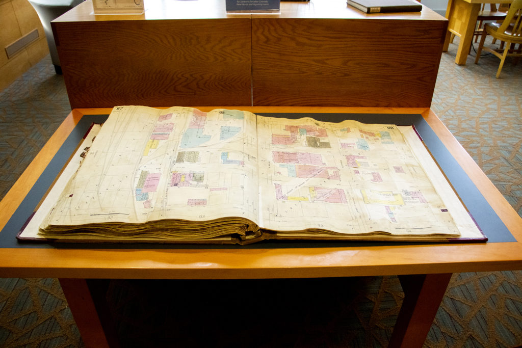 An old Sanborn fire insurance map at the Denver Public Library's Western History Collection shows what once stood in Auraria before the campuses there were built in the early '70s. (Denver Public Library/Western History Collection)