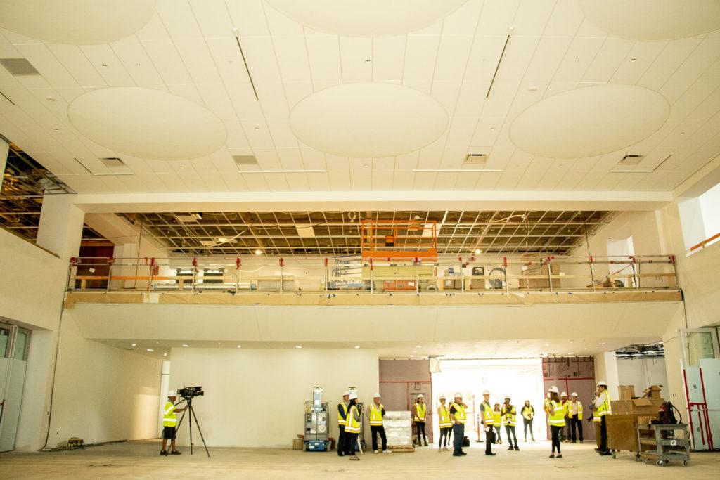 A media tour of the Denver Art Museum's new Martin Building, during construction, Aug. 8, 2019. (Kevin J. Beaty/Denverite)