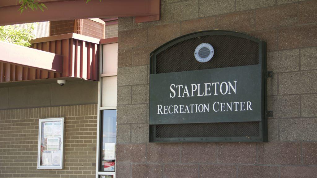 Outside the Stapleton Recreation Center in Globeville on Thursday, August 15, 2019, in Denver. (Esteban L. Hernandez/Denverite)