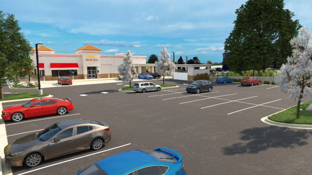 A rendering of the In-N-Out Burger planned for 9171 Westview Road in Lone Tree. (In-N-Out site development plan)