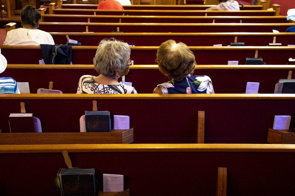 A Sunday morning inside Campbell Chapel AME Church, Aug. 11, 2019. (Kevin J. Beaty/Denverite)