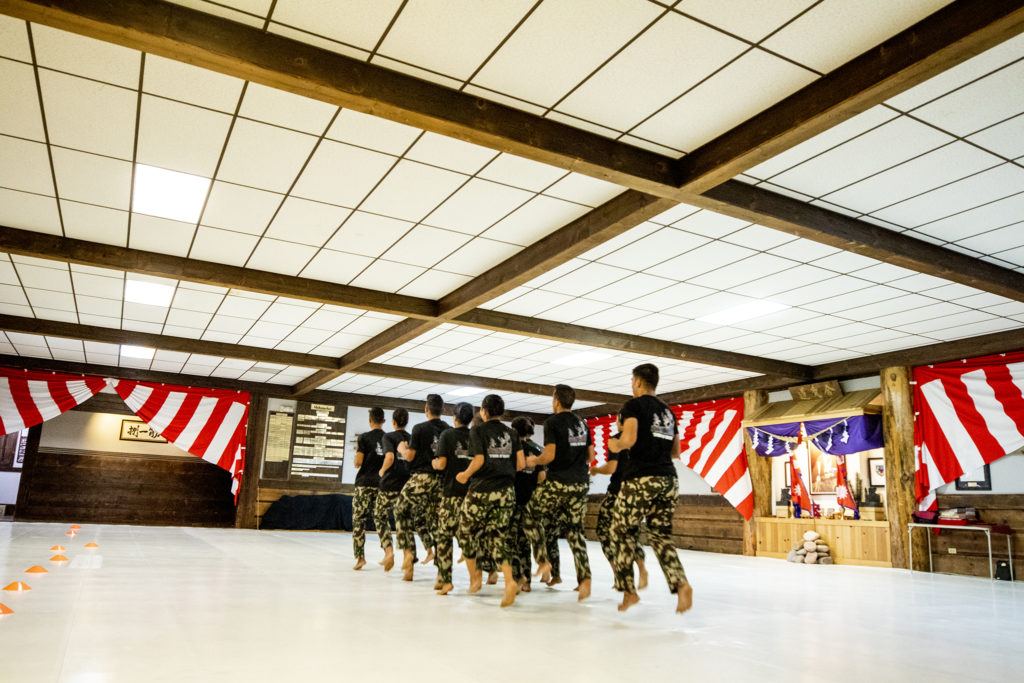 Nepali Soldiers demonstrate drills during a ceremony closing out their month of training at Aikido Nippon Kan, Aug. 31, 2019. (Kevin J. Beaty/Denverite)