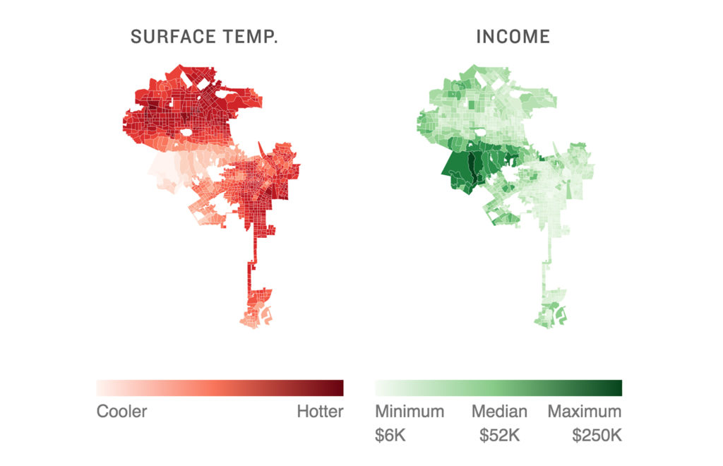 Heat and income in Los Angeles. (Source: NPR)