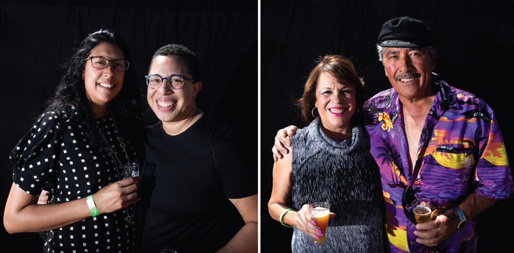 Alejandra Acevedo and Danica Shipley and Ruth Calderon Sanchez and Alonso Sanchez. Suave Fest, by the future site of Raices Brewing, Sept. 14, 2019. (Kevin J. Beaty/Denverite)