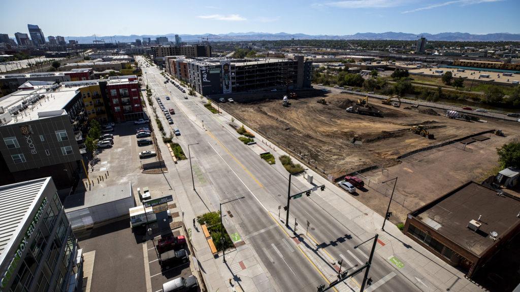 Development on Brighton Boulevard, Five Points, Sept. 24, 2019. (Kevin J. Beaty/Denverite)