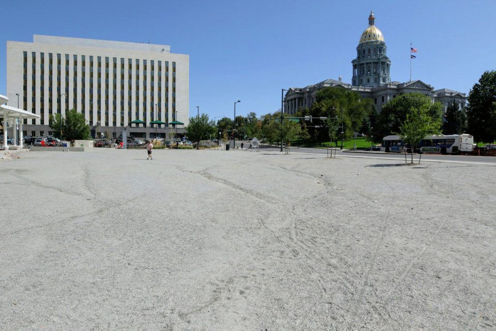 RTD owns the lease to this lot at Colfax and Broadway. (Kevin J. Beaty/Denverite)