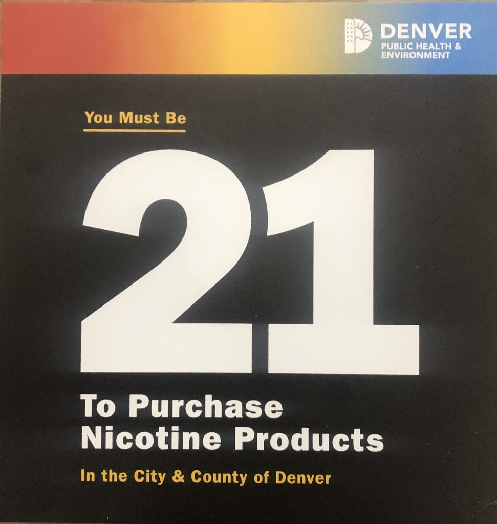 These signs will become ubiquitous around Denver. (David Sachs/Denverite)