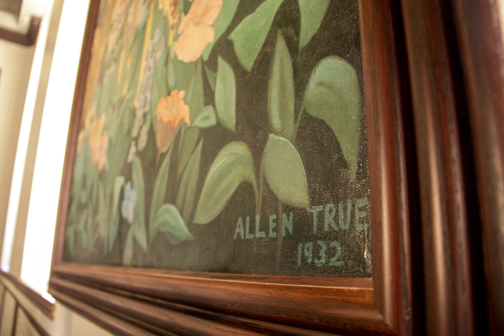 A mural by Allen True inside Tammen Hall, near the campus of St. Joseph Hospital, Oct. 15, 2019. (Kevin J. Beaty/Denverite)