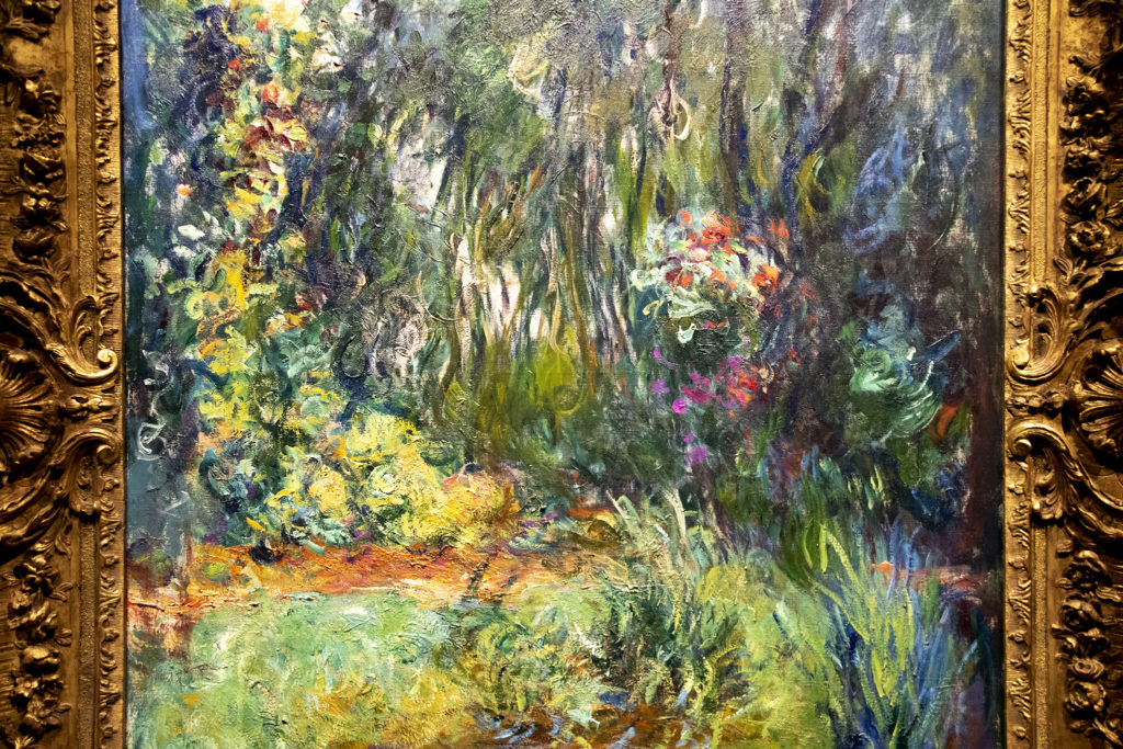 """""""The Water-Lily Pond"""" on display in the Denver Art Museum's """"Claude Monet: The Truth of Nature"""" exhibit Oct. 17, 2019. (Kevin J. Beaty/Denverite)"""