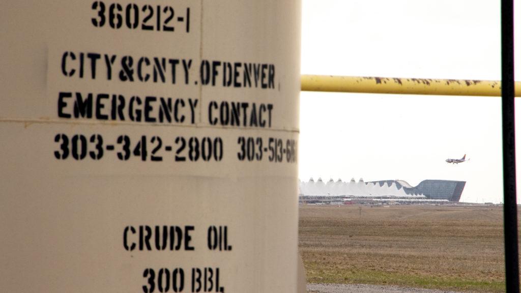 Oil and gas infrastructure near Denver International Airport. Oct. 18, 2019. (Kevin J. Beaty/Denverite)