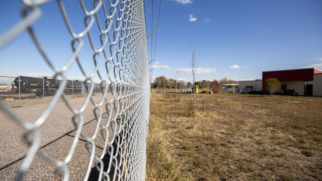 The lot behind Focus Points that will soon be home to Huerta, a social enterprise, Oct. 23, 2019. (Kevin J. Beaty/Denverite)