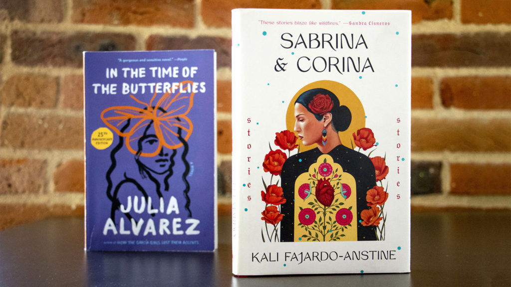 "Julia Alvarez's ""In The Time of Butterflies"" and Kali Fajardo-Anstine's ""Sabrina & Corina."" (Kevin J. Beaty/Denverite)"