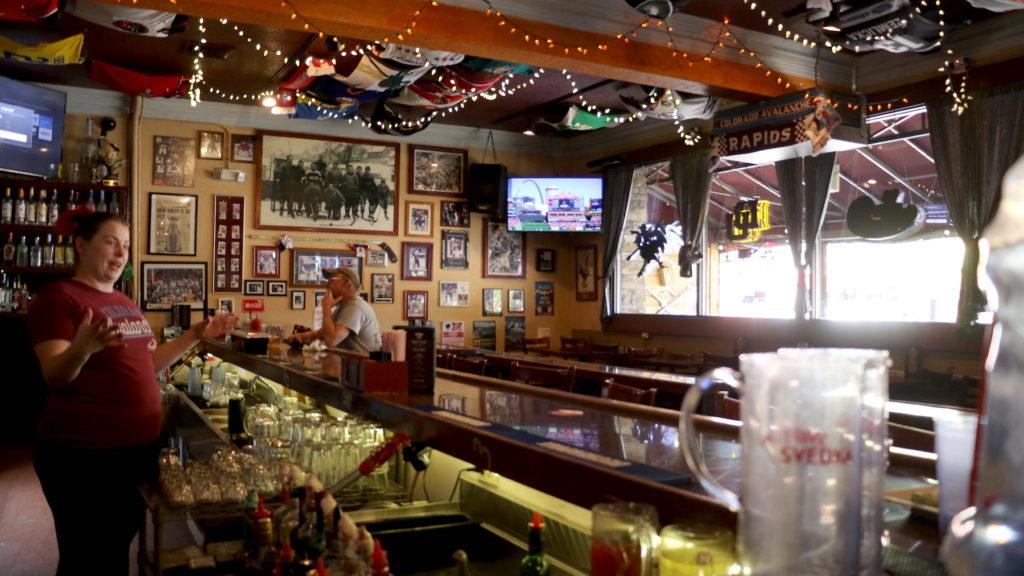 Simone McGinnis, a bartender at SoBo 151 in Baker, Oct. 7, 2019. (David Sachs/Denverite)