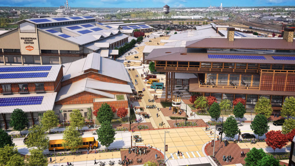A rendering of the future, revamped National Western Center. (Source: Mayor's Office of the National Western Center)