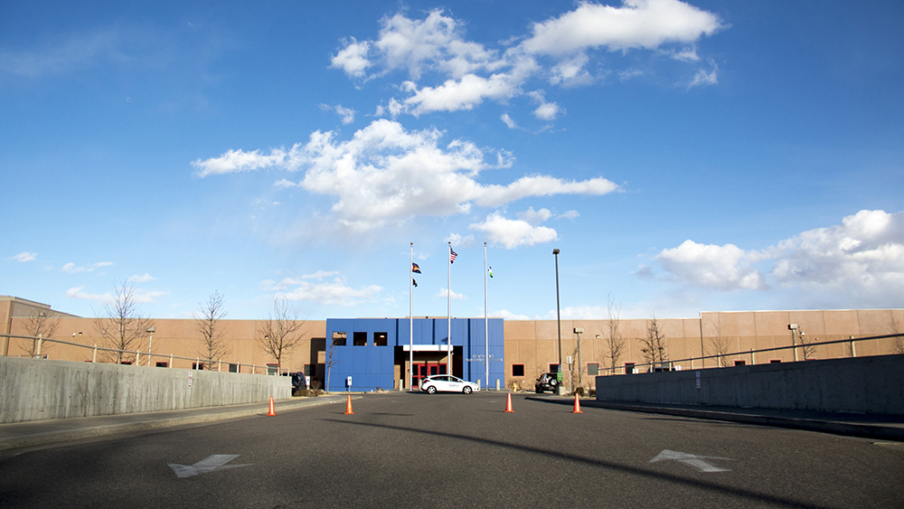 GEO's Aurora Contract Detention Facility. Feb. 25, 2019. (Kevin J. Beaty/Denverite)