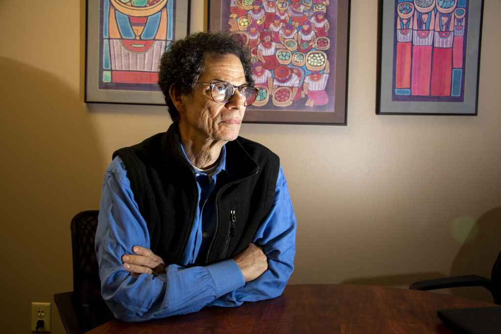 Mark Silverstein, ACLU Colorado's legal director, poses for a portrait in his office. Nov. 12, 2019. (Kevin J. Beaty/Denverite)