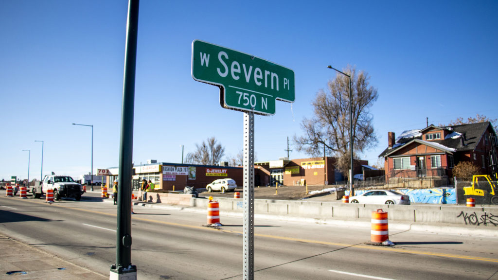 Severn Place, just east of Federal Boulevard. Nov. 12, 2019. (Kevin J. Beaty/Denverite)