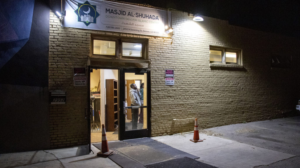 The Downtown Denver Islamic Center off Downing Street, in Whittier, after a man arrived at the mosque with a long gun. Nov. 14, 2019. (Kevin J. Beaty/Denverite)