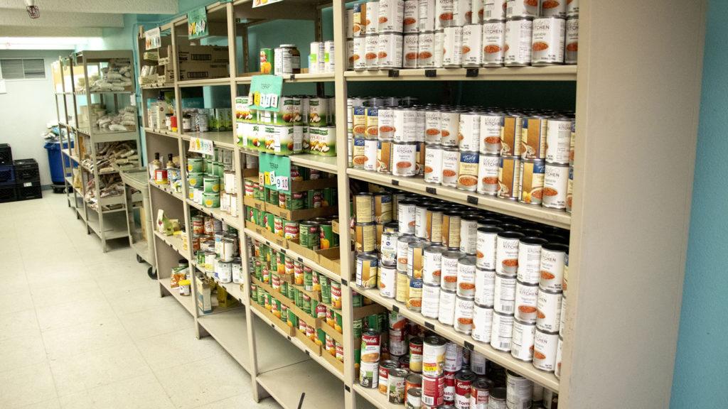 Jewish Family Services' food pantry, Nov. 19, 2019. (Kevin J. Beaty/Denverite)