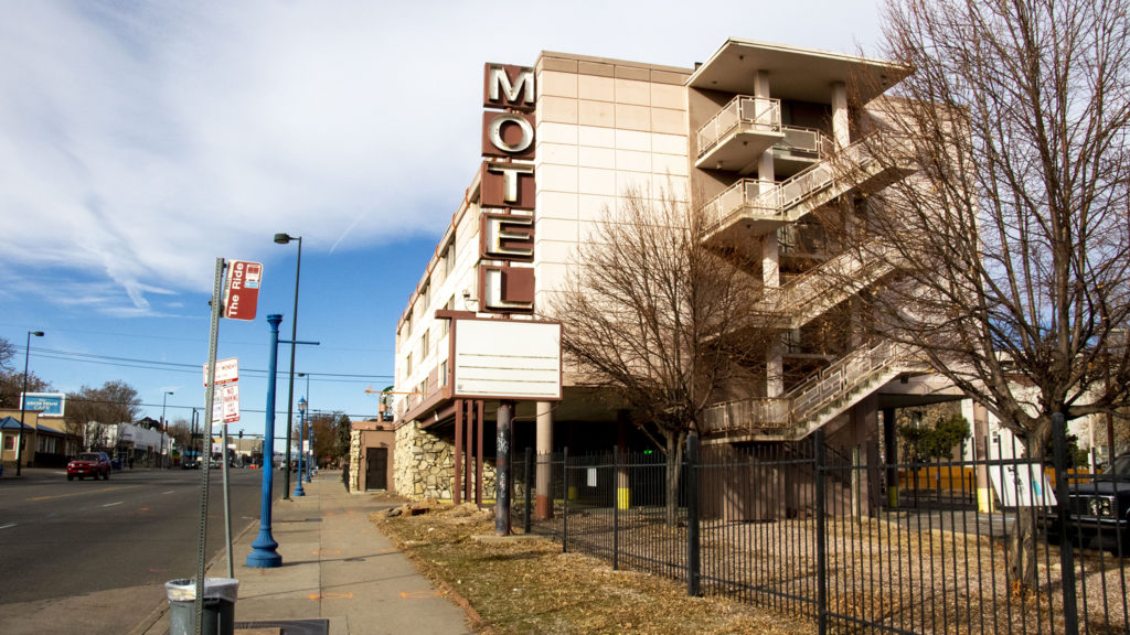 The All Inn Motel on East Colfax Avenue. Nov. 19, 2019. (Kevin J. Beaty/Denverite)