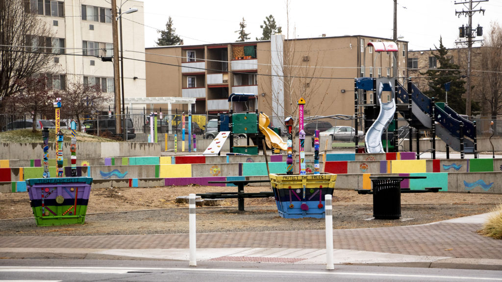 New Freedom Park in Denver's East Colfax neighborhood, Nov. 21, 2019. (Kevin J. Beaty/Denverite)