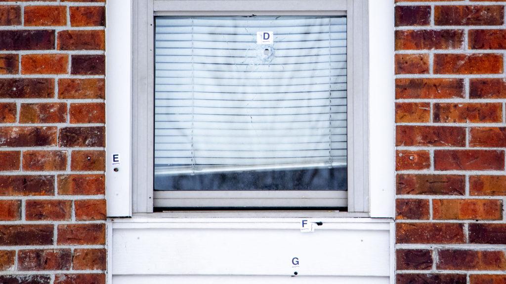 A home on Harrison Street in Denver's Clayton neighborhood where a six-year-old was shot. Nov. 22, 2019. (Kevin J. Beaty/Denverite)