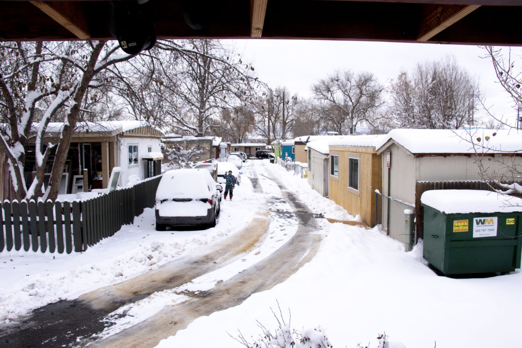 Rustic Ranch Mobile Home and RV Park off Federal Boulevard. Nov. 26. 2019. (Kevin J. Beaty/Denverite)