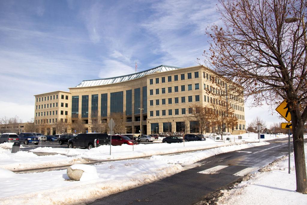 Aurora's municipal building. Nov. 27, 2019. (Kevin J. Beaty/Denverite)