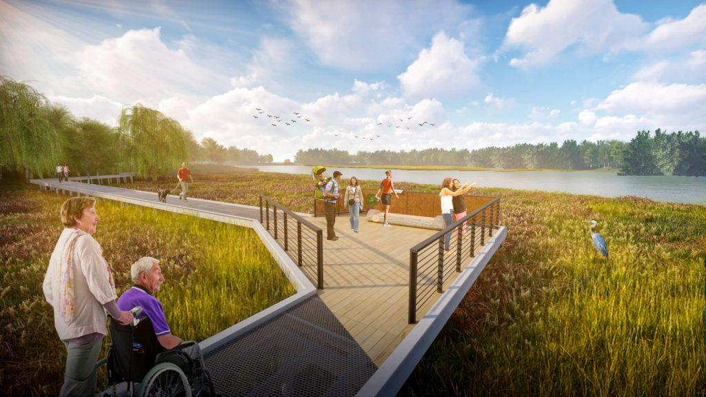 A rendering of Heron Pond Overlook at