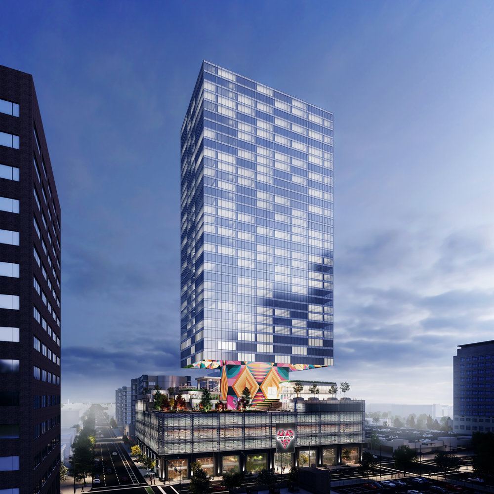 The Love this City Tower at 19th and Arapahoe. (Courtesy, Land Capital LLC)