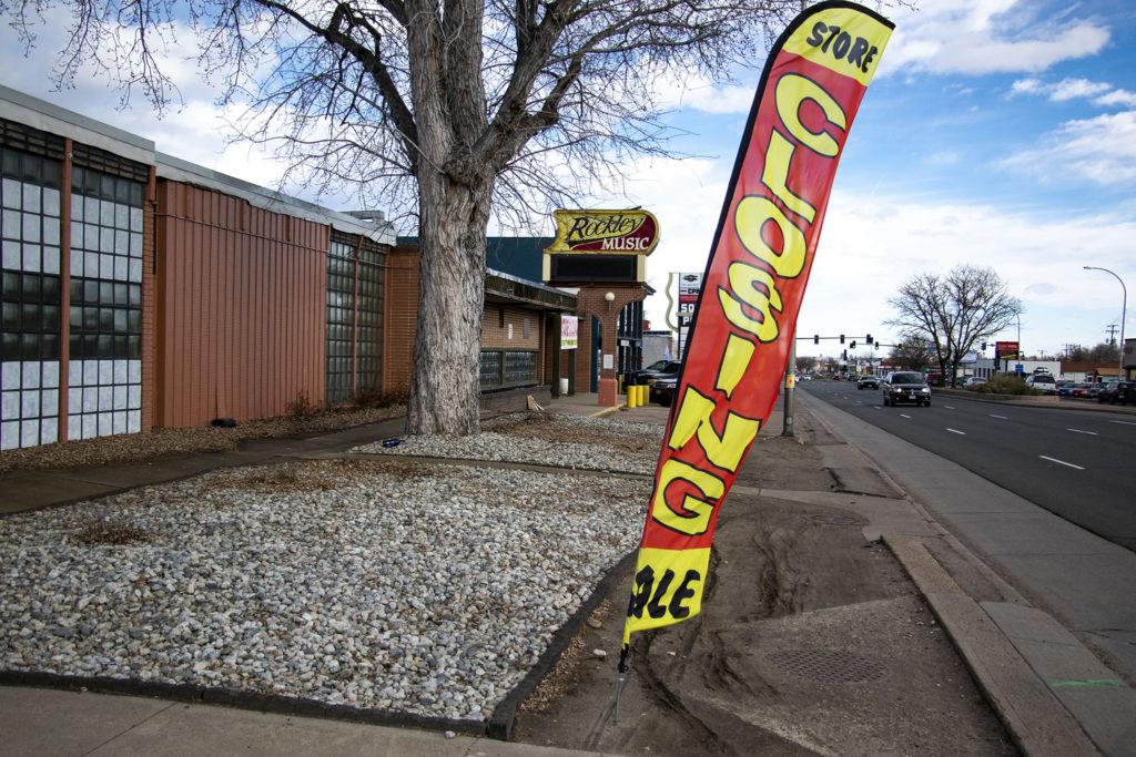 The Rockley Music Center on West Colfax Avenue, Lakewood. Dec. 13, 2019. (Kevin J. Beaty/Denverite)