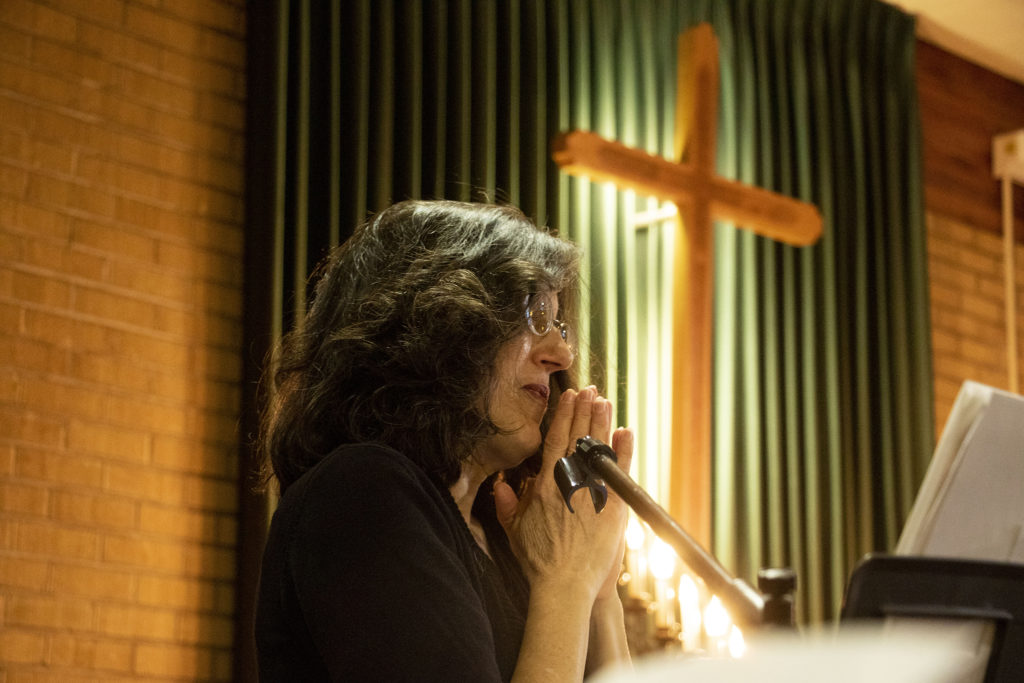 Kim Ramos' quinceañera at Ministerio Hispano Presbyterian Church, Dec 14, 2019. (Kevin J. Beaty/Denverite)