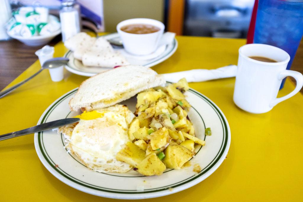 Breakfast at Tom's Diner. Dec. 21, 2019. (Kevin J. Beaty/Denverite)