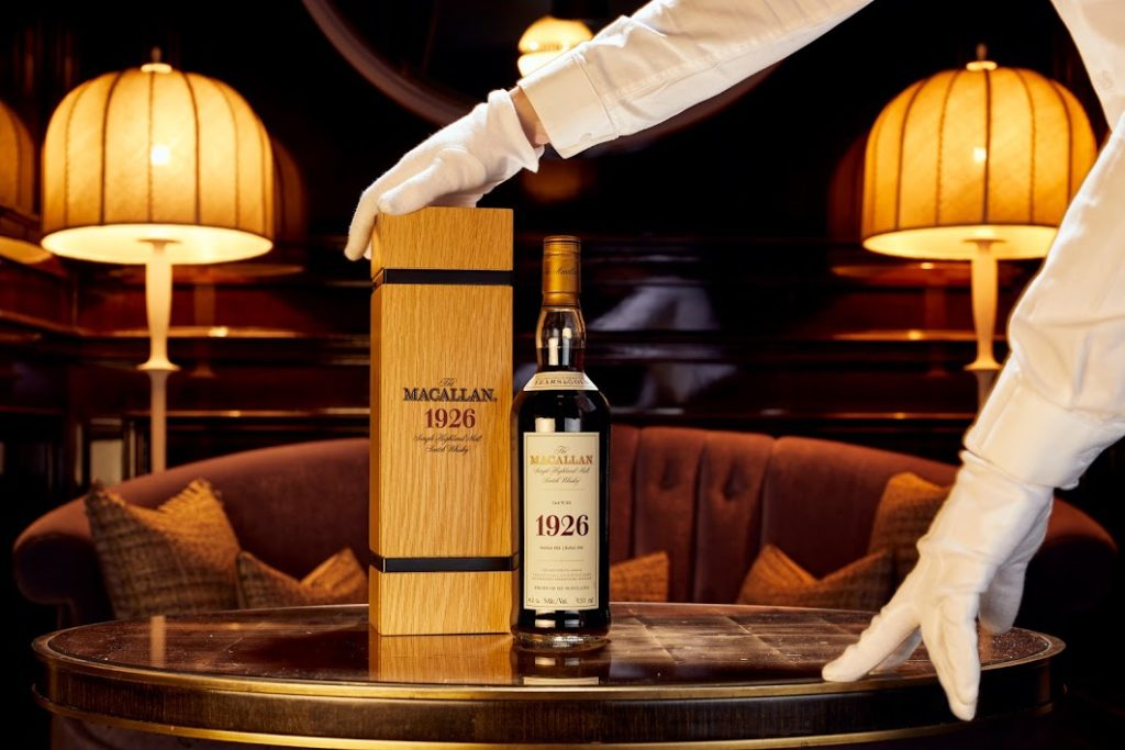 The Macallan 1926 Fine and Rare 60 Year Old  bottle, the most valuable whisky from Richard Gooding's collection. (Courtesy of Whisky Auctioneer)