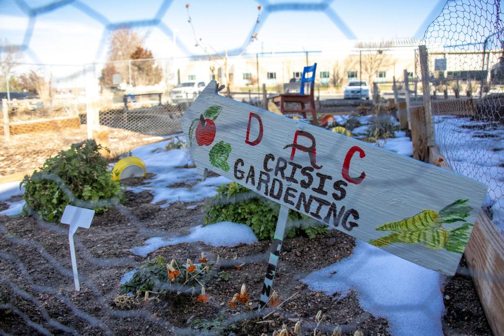 "The ""crisis garden"" behind the Aurora Day Resouce Center, Nov. 11, 2019. (Kevin J. Beaty/Denverite)"