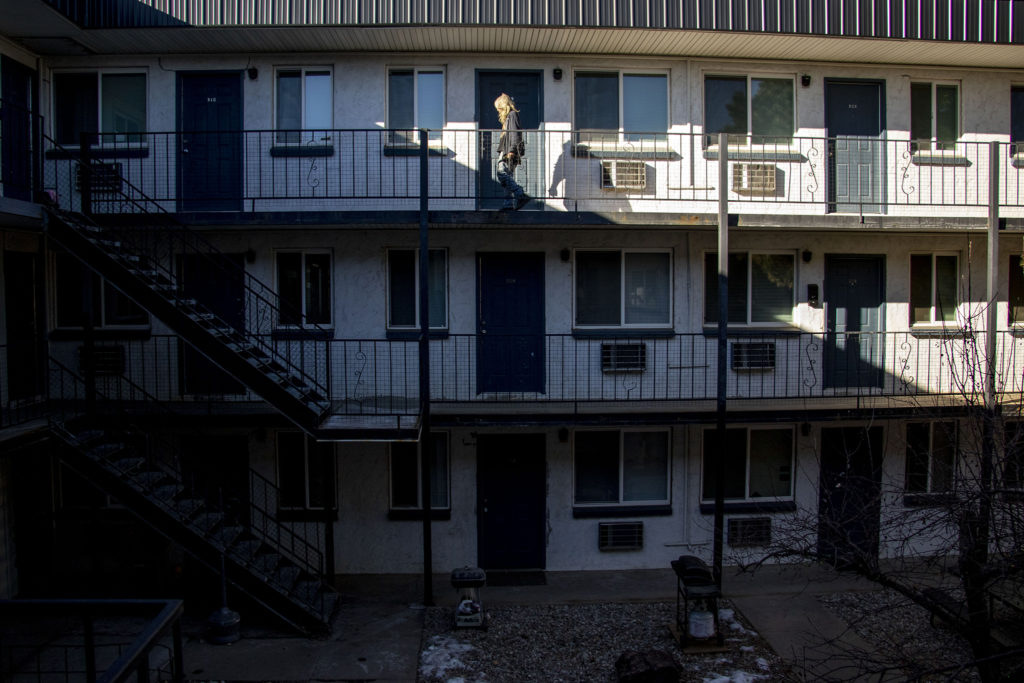 The Abrigo Apartments in Aurora, Jan. 7, 2020. (Kevin J. Beaty/Denverite)