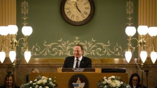 Gov. Jared Polis gives his second State of the State address, Jan. 9, 2020. (Kevin J. Beaty/Denverite)
