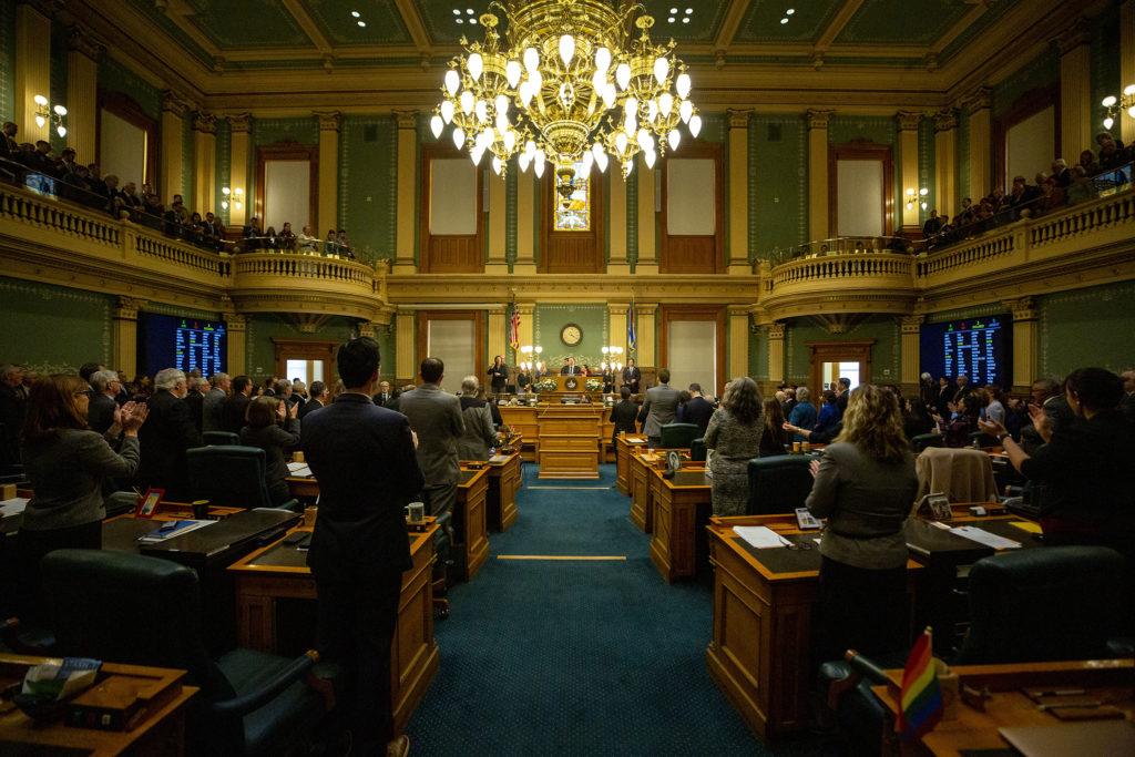 Gov. Jared Polis' second State of the State address. Jan. 9, 2020. (Kevin J. Beaty/Denverite)